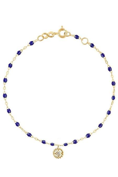 "Gigi Clozeau 6.7"" Lucky Puce Mini Gigi Bracelet - Lapis/ Gold"