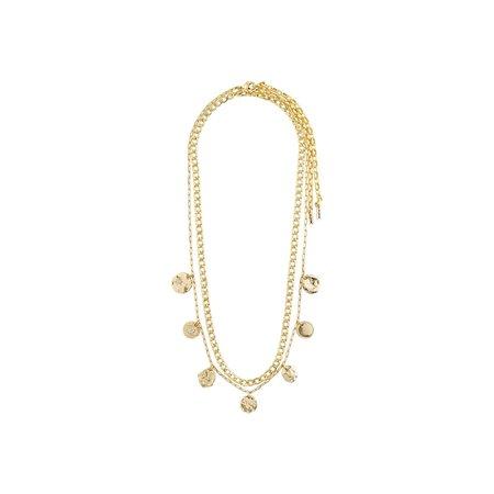 Pilgrim Poesy Necklace - Gold