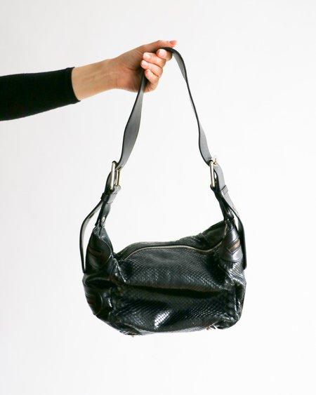 [pre-loved] Chloe Snakeskin Shoulder Bag - Black