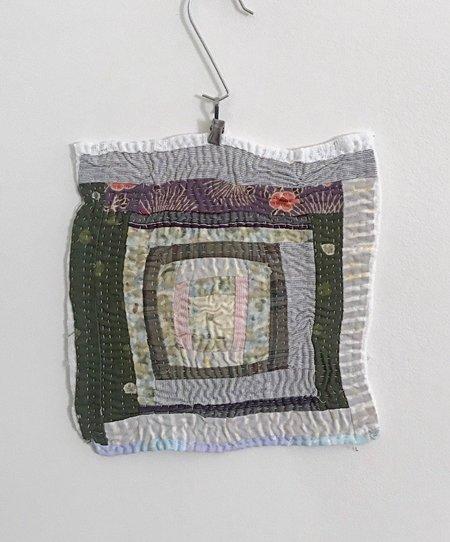 Debby Weiss Log Cabin #1 Textile Art