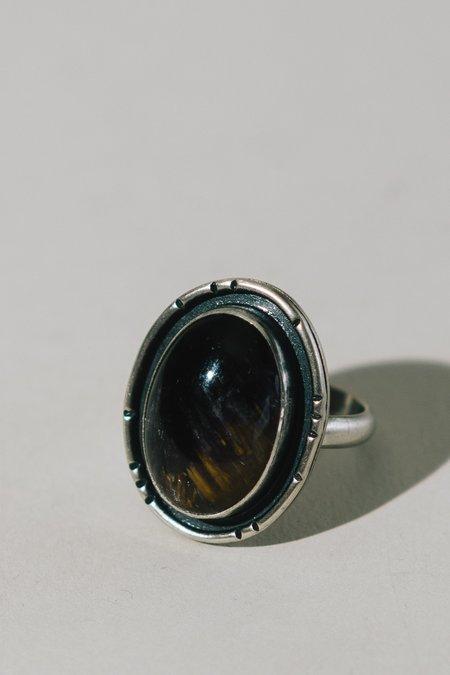 Blue & Blue Super Seven Statement Ring - Silver