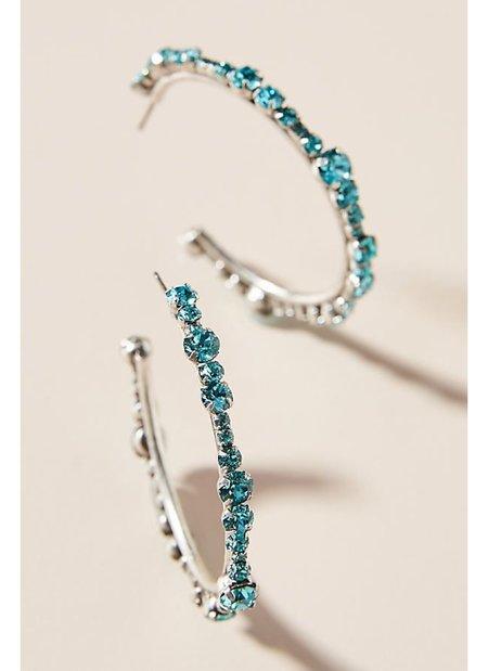 Dannijo Alicia Earrings - silver/Blue