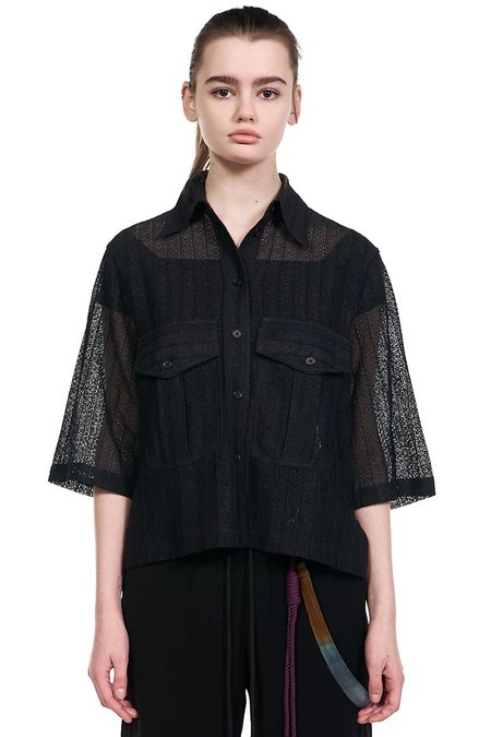 Song for the Mute Lace Shirt - Black