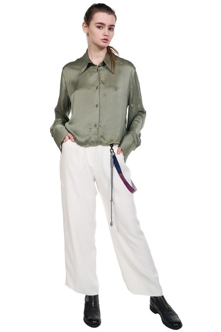 Song for the Mute Straight Leg Pant - White