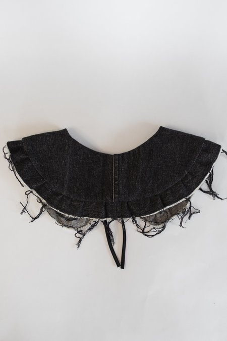 Serena Orlando Small Collar - Black Denim