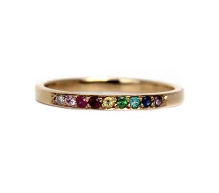 Lumo Jewelry Rainbow Ring - 14K Yellow Gold