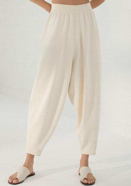Mónica Cordera Knit  Pants - Natural