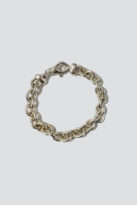 Vintage Italian Rolo Chain Bracelet - Sterling Silver