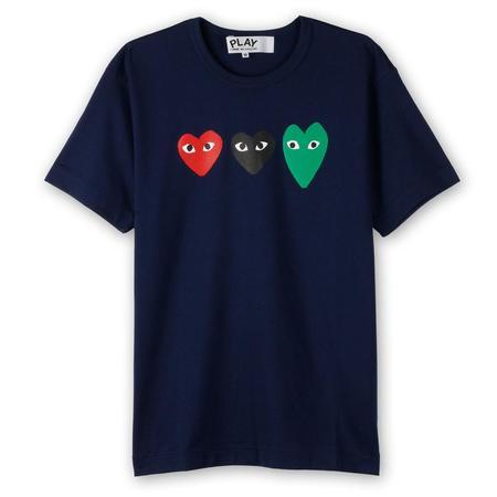 Comme des Garçons Logo T-shirt - Navy