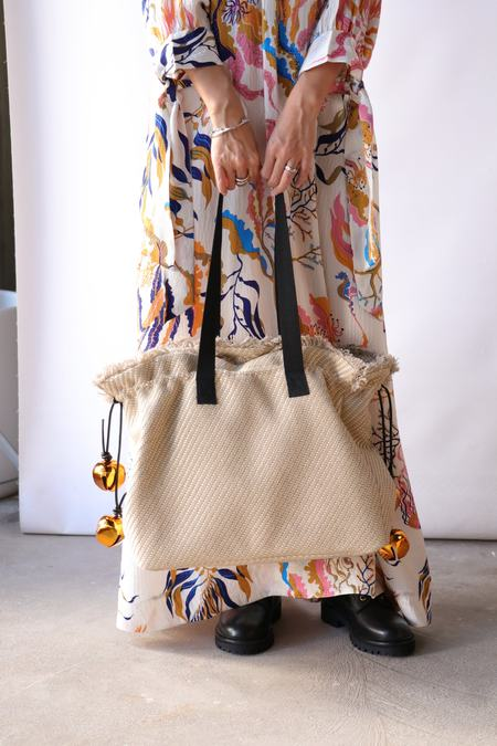 Rodebjer Quinn Straw Tote - Linen