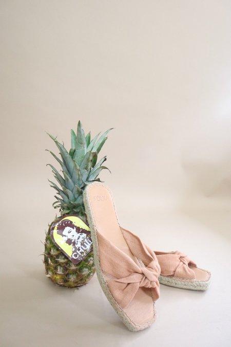 Polka Shoes Gaia Espadrille Slide Sandal - Nude