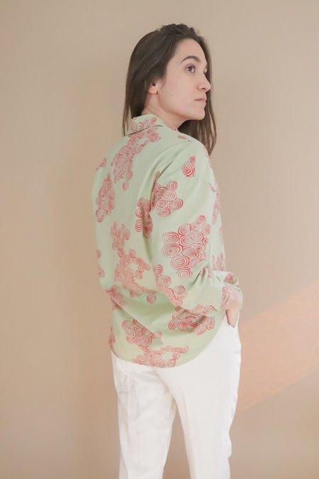 Nice Things Paloma Spirals Shirt - Green