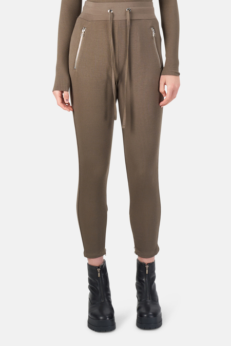 The Range Alloy Rib Zip Pants - Hazel