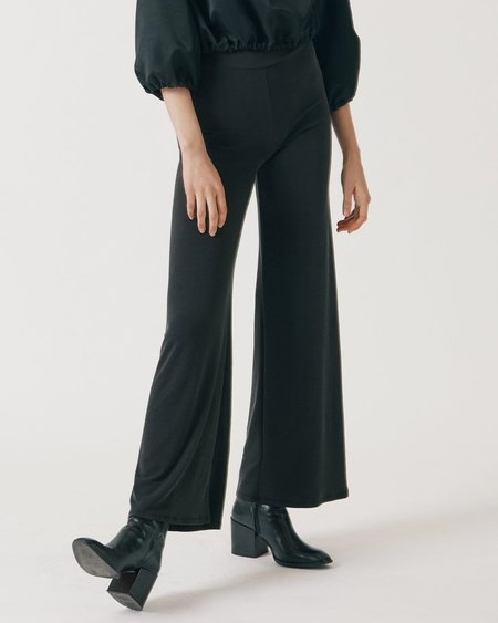 Maria Morgana Palazzo Lounge Pants - Black