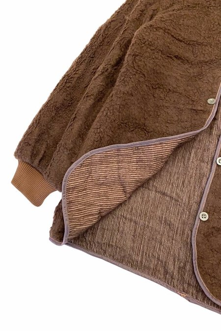 VINTAGE FLEECE MILITARY LINER - Fuzzy Chocolate brown