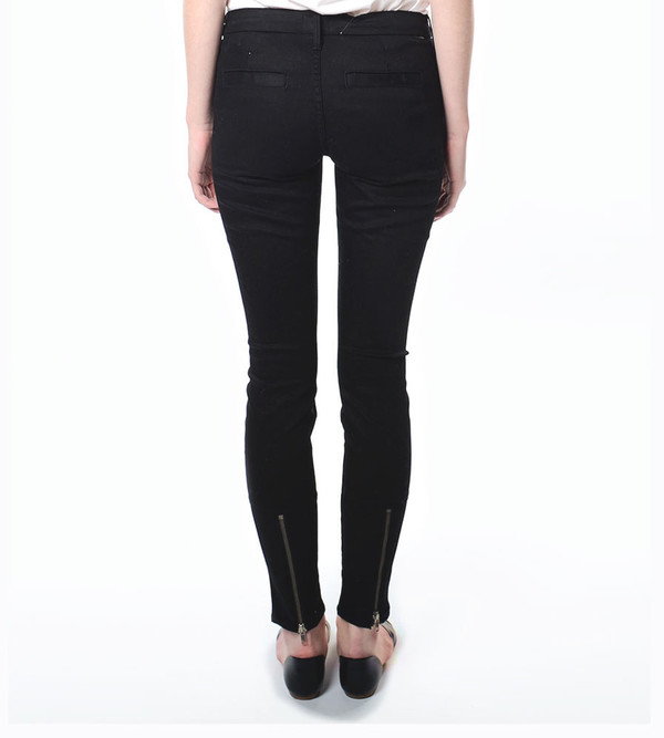 Mother Denim The Welt Zip Muse in Midnight at the Oasis