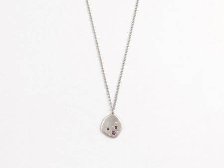 Sara Golden Meteor Necklace - Silver