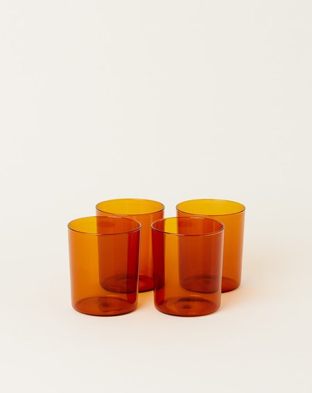 Maison Balzac Set of 4 Goblets Glasses - Amber