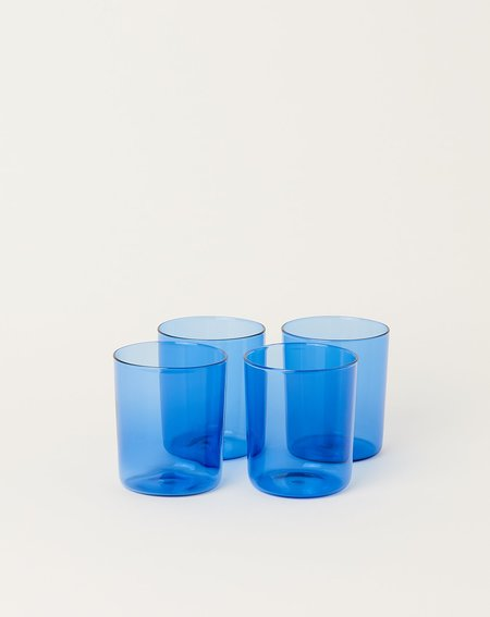 Maison Balzac Set of 4 Goblets Glasses -  Azure