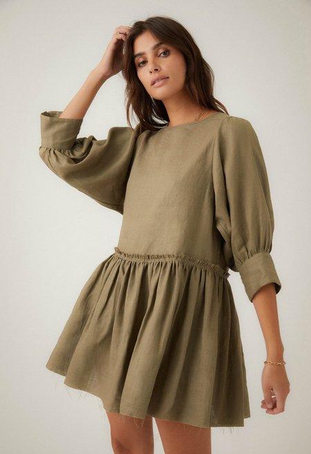 R.G. Kane Stella Dress - Olive
