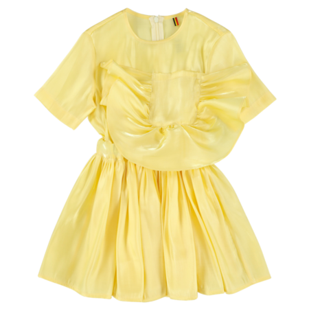 Kids caroline bosmans pocket dress - glimmer yellow