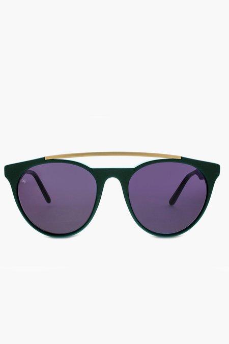 Smoke x Mirrors Sugarman eyewear - Hunter Green/Matte Gold