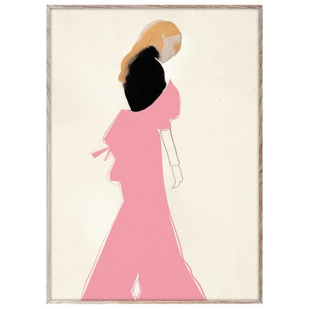 Paper Collective Pink Dress Print by Amelie Hegardt
