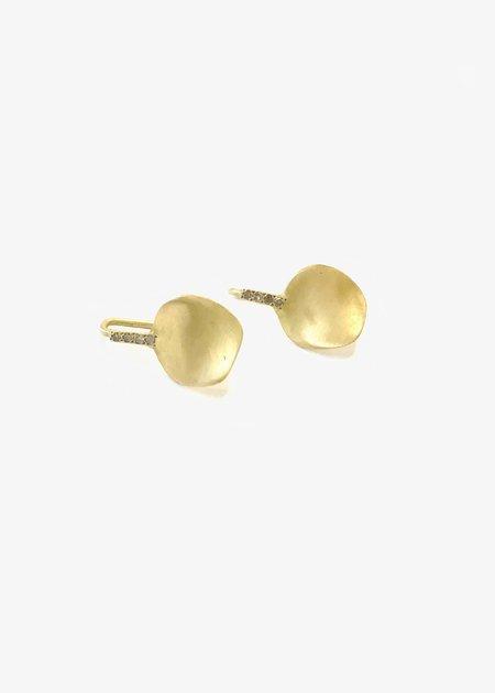 Rosa Maria 18k Gold Earrings With Black Diamonds