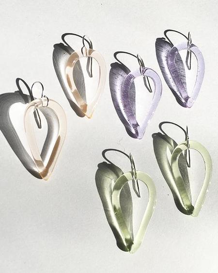 JANE D'ARENSBOURG Tear Drop Earrings - sterling silver/Lime