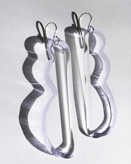 JANE D'ARENSBOURG Wave Earrings - Lilac