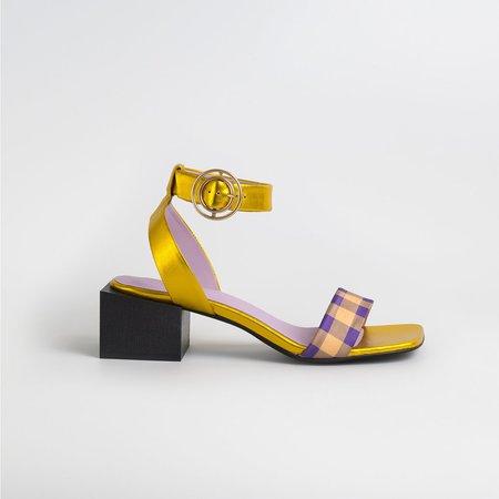 Unreal Life Lolita Sandals - Gold/Purple