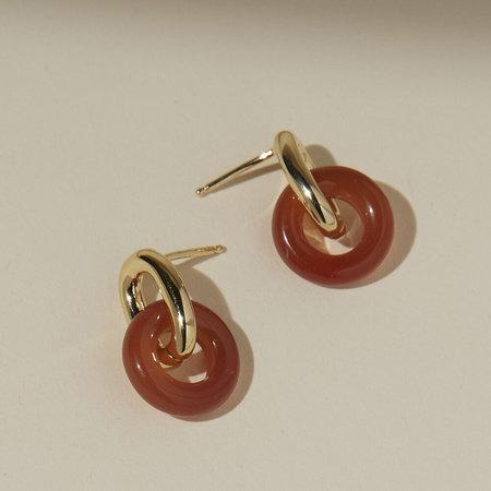 Lindsay Lewis Jewelry Anna Earrings - Carnelian