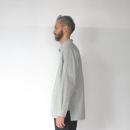 Still By Hand Double pocket BD shirt - sage green