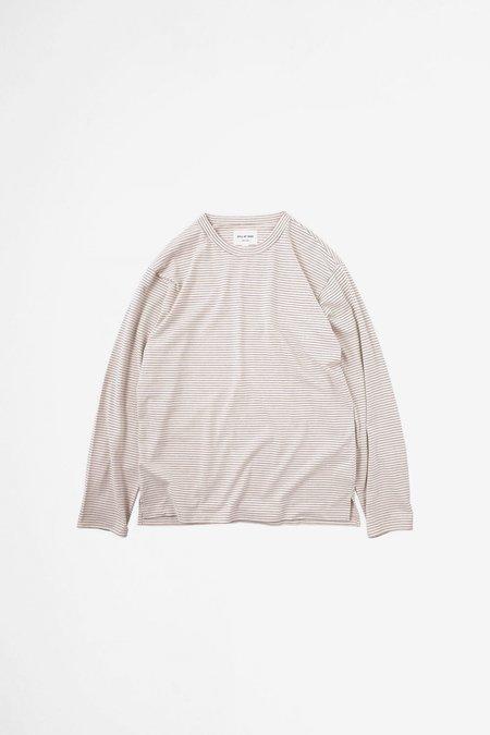 Still By Hand Striped long sleeve t-shirt - pink/beige