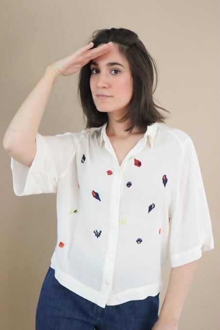 Nice Things Paloma Coral Reef Shirt - White