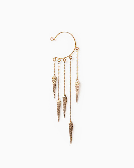 Knobbly Spike Cascade Ear Cuff