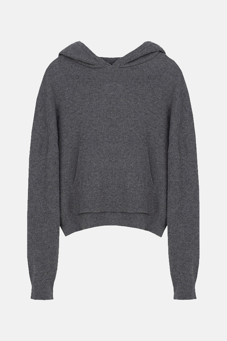 Nanushka Mog Knit Hoodie Sweater - Graphite
