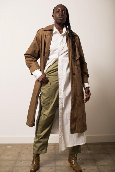 Vintage Trench Coat - Medium Brown