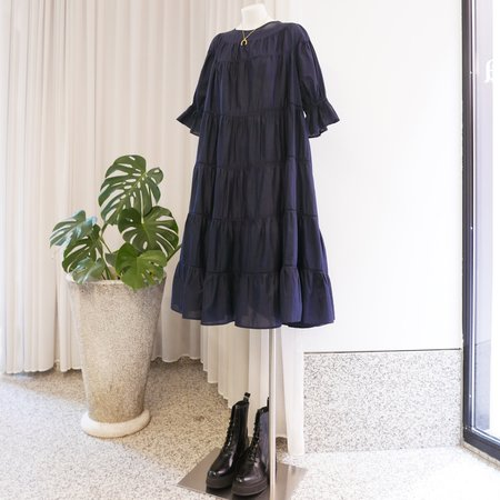 Merlette Paradis Tiered Dress - Navy