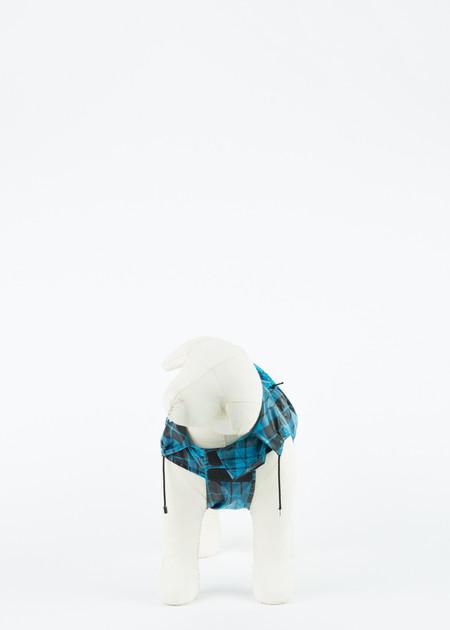 Ware of the Dog Plaid Anorak Dog Raincoat - BLUE/BLACK