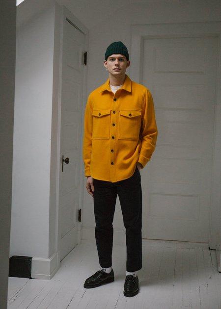Steven Alan Wool Double Pocket Shirt Jacket - Marigold
