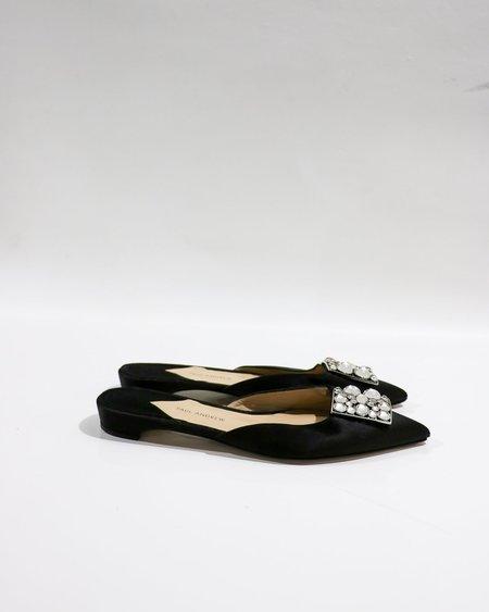[pre-loved] Paul Andrew Flat Embellished Mules - Black