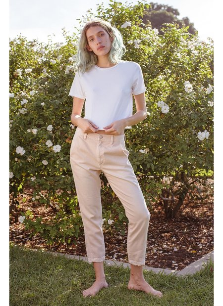 A M O Slouch Trouser - Pale Pink