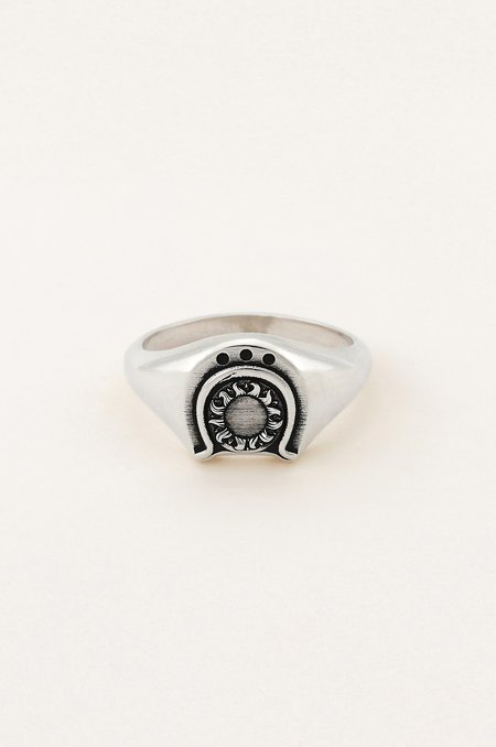 The Silver Stone Daybreak Ring - Silver