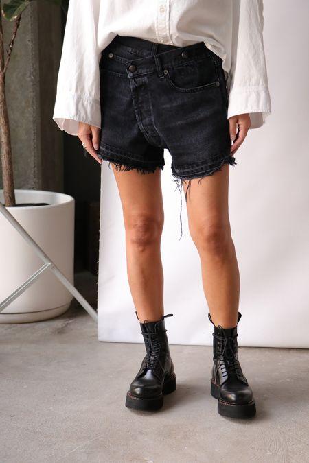 R13 Cross Over Shorts - Jake Black