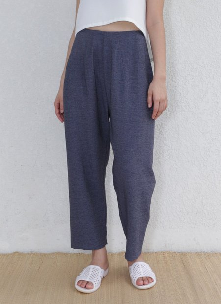 KAAREM Sun Pleated Pocket Pant - Dark Blue