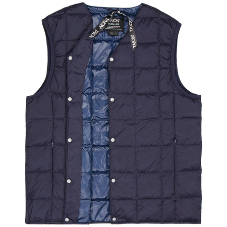 Taion v neck button down vest - Navy