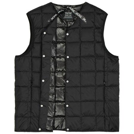 Taion v neck button down vest - Black
