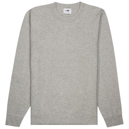 NN07 Luis Sweats - Light Grey Melange