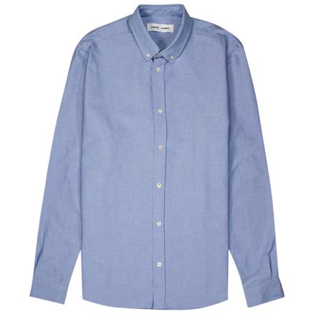 Samsoe Samsoe Liam Bx Shirt - Light Blue